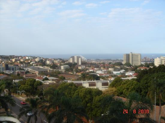 Coastlands Musgrave Hotel: View from the balcony with World Cup stadium