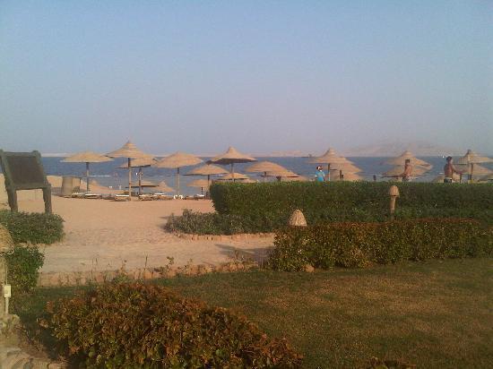 Charmillion Gardens Aqua Park: The private beach for all 3 hotels