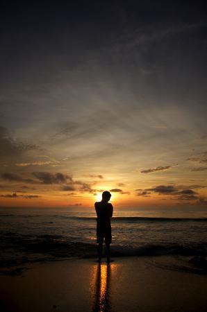 Tesoro Escondido: Levé de soleil sur la plage.