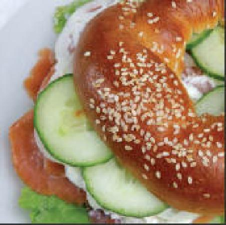Yiroll Caffebake   -  Coffee Shop: Smoked Salmon Cream Cheese Bagel