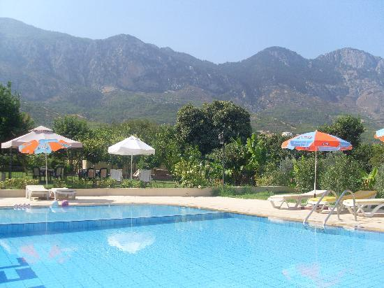 Lapida Hotel: Pool view of the mountains