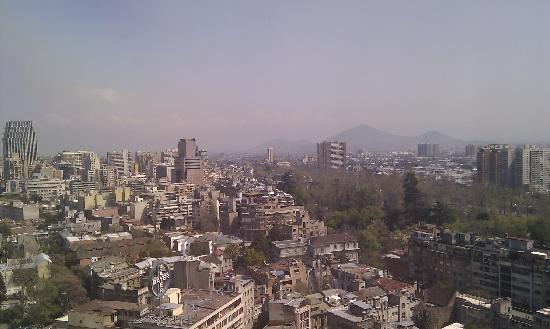 Crowne Plaza Santiago: view from the room
