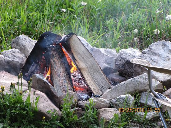 Budges' Slide Lake Cabins: Fire pit
