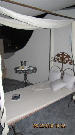 Andronis Luxury Suites: A place to sit on second balcony