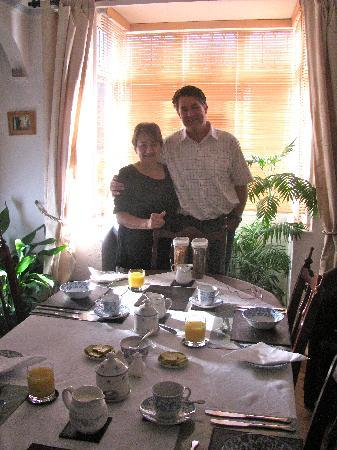 No 10 B and B: My husband with Maryam, the owner
