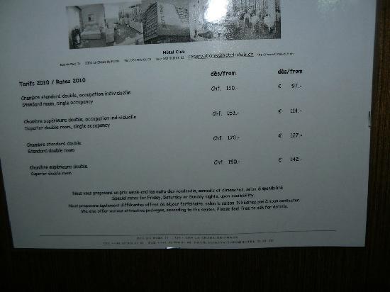 Hotel Club: les prix...raport qualité...