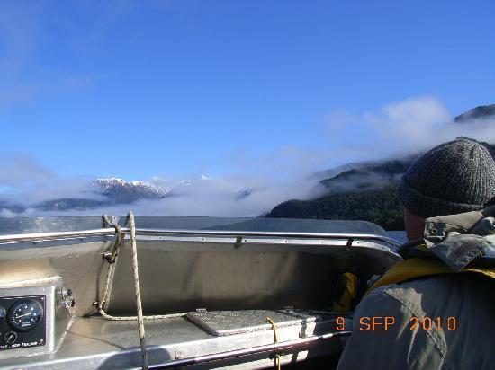 Wairaurahiri Wilderness Jet: Crossing the lake