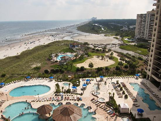 North Beach Plantation: Pool and beach view from the Indigo tower