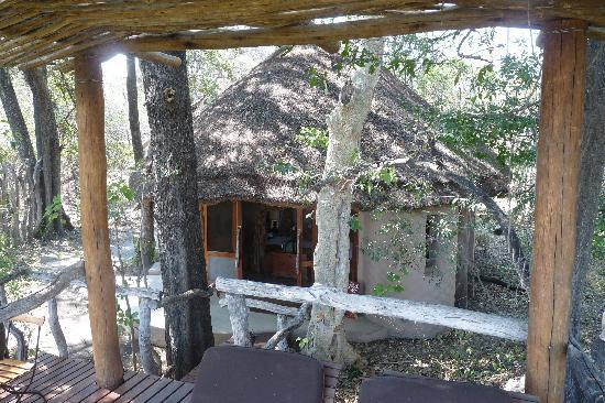 andBeyond Sandibe Okavango Safari Lodge: notre chambre vue depuis le promontoire