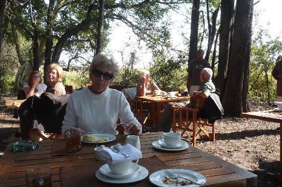 andBeyond Sandibe Okavango Safari Lodge: petit déjeuner en plein air