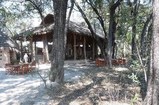 andBeyond Sandibe Okavango Safari Lodge: la salle de restaurant