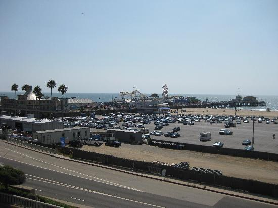 Santa Monica Pier: View of Pier from Ocean Ave