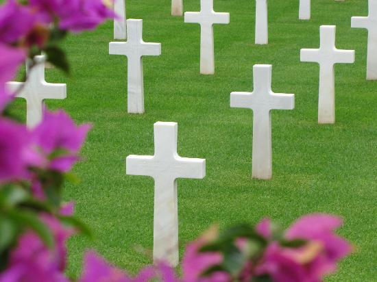 La Goulette, Tunísia: The American National Cemetary for servicemen killed in action in Africa during WW II