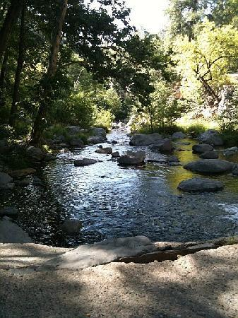 Orchard Canyon on Oak Creek: Crossing the Creek to Garland's