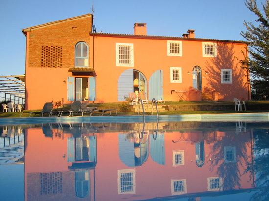 Vinci, อิตาลี: Front side and swimming pool