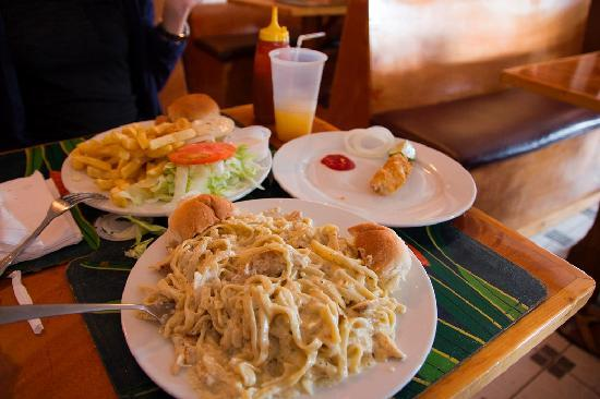 Grouper fingers chicken alfredo picture of andros the for Fish fry nassau