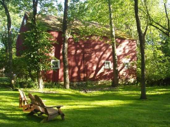 "Inn at Glencairn: The back ""yard"" with red barn"
