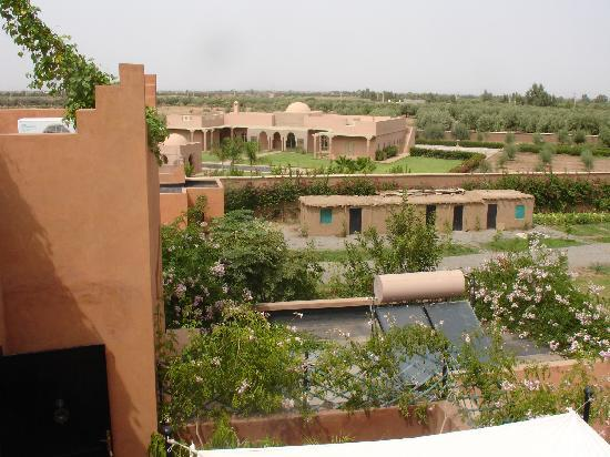 Riad Al Mendili Kasbah: view from rooftop (away from mountains)