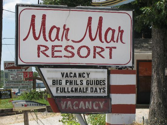 Mar-Mar Resort & Tackle Shop: Sign
