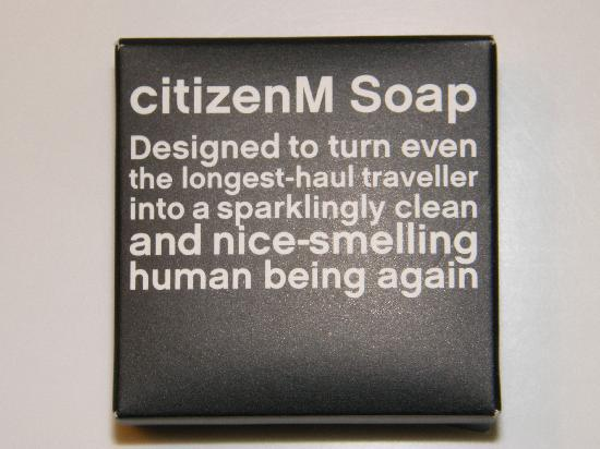 "citizenM Glasgow: They have ""sayings"" on everything"