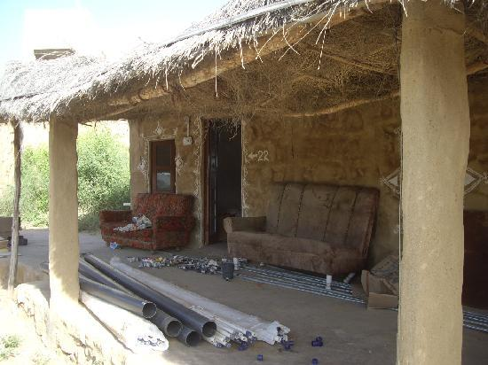 Kuldhara Heritage Resort: The hut is obviously not ready but is on sale!