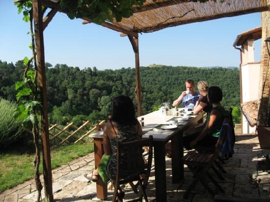 Ankhura: Breakfast on the patio.