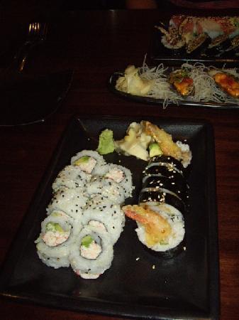 The Happy Sumo: California Roll and Shrimp Tempura roll