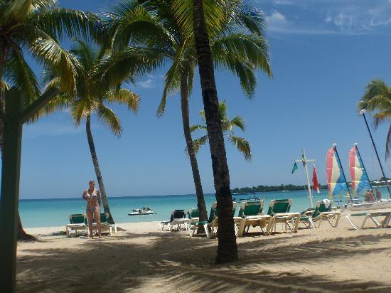 Negril, Jamaïque : The beach of Riu Palace hotel