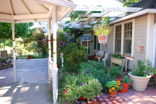 Coolidge House Bed and Breakfast: relaxing courtyard