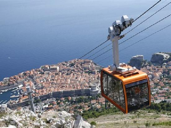 One of the cable cars - unusually empty! - Picture of ...