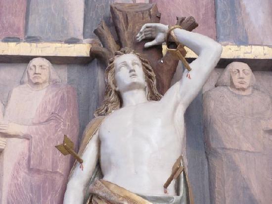 Pilgrimage Church of the Assumption (Wallfahrtskirche Maria Himmelfahrt ): detail of a side altar