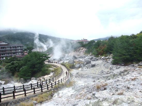 Unzen, Jepang: 蒸気が凄いです。