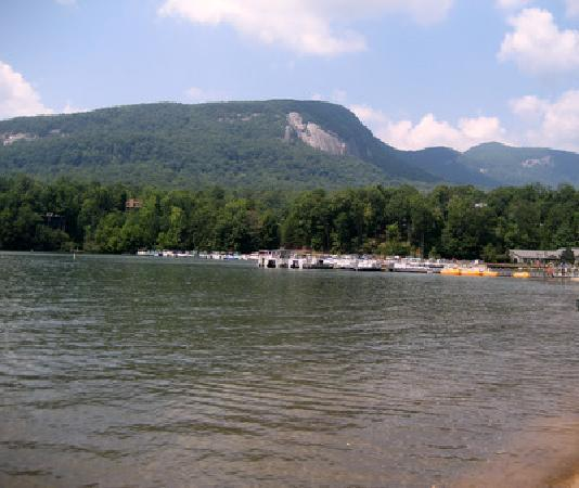 Rumbling Bald Resort on Lake Lure: The view from the reception