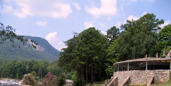 Rumbling Bald Resort on Lake Lure: The terrace, where our reception took place