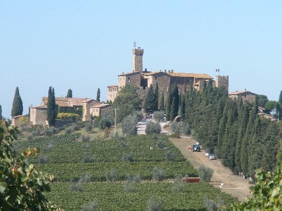 Castello Banfi - Il Borgo: estate from road nearby