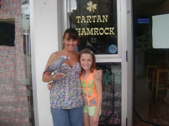Helen's Tartan Shamrock : Helen the owner and shannon