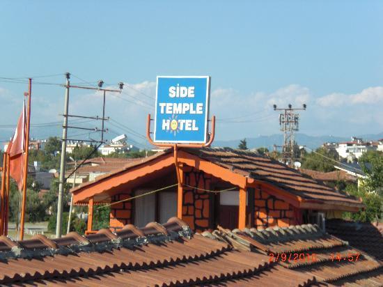 Side Temple Hotel: Side Temple-Schild