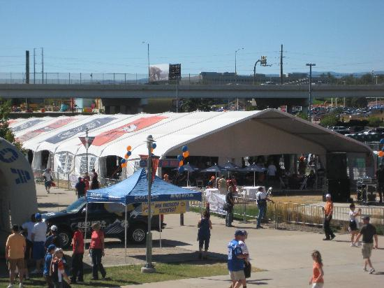 Sports Authority Field at Mile High: Pre-game tent