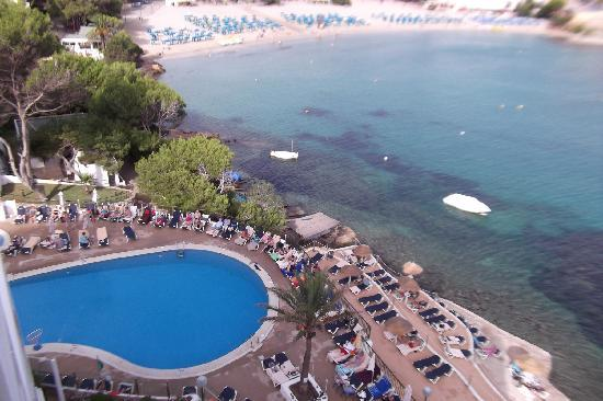 Palladium Hotel Cala Llonga: View from top of hotel