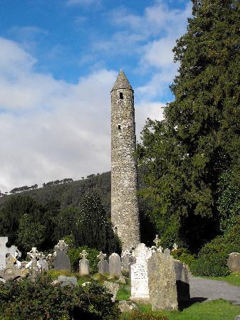 Dublin, Ireland: Round Tower at Glendalough