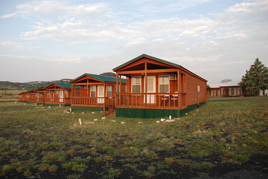 Fort Davis, TX: Cabins and Lodge at Sunrise