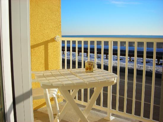 The OC Studio Suites: Every unit has a private balcony overlooking the Atlantic Ocean
