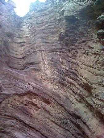 Cafayate, Argentina: Interior de la garganta del diablo.