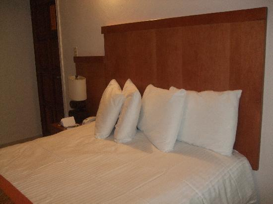 Le Consulat, Ascend Collection Hotel: Comfortable bed with 4 pillows, comforter & blanket.