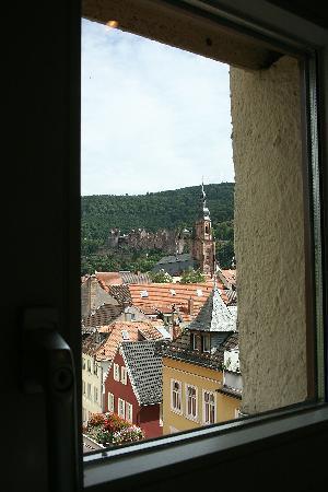 Hotel Villa Marstall: View of castle from side window