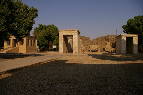 Karnak Open Air Museum: All 3 (4) White Chapels (4th is being re-built behind the centre one)