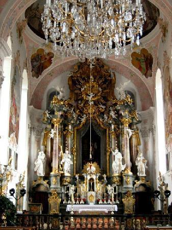Oberammergau, Alemania: Pfarrkirche - Innenraum