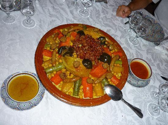 Villa Abalya: Plats typique du Maroc