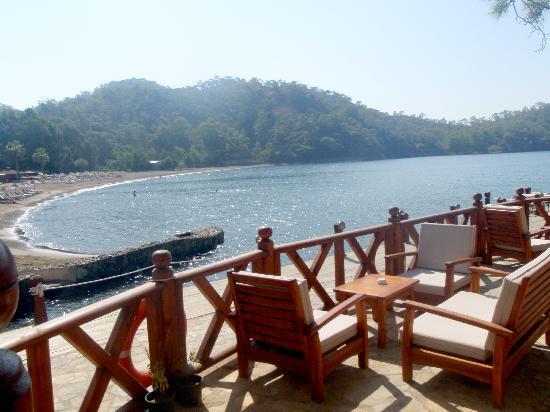 The Bay Beach Club: Gunluklu Bay - view from the restaurant