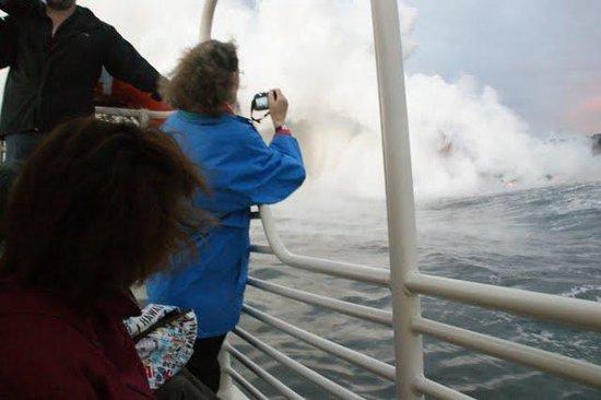 Pahoa, HI: lava boat